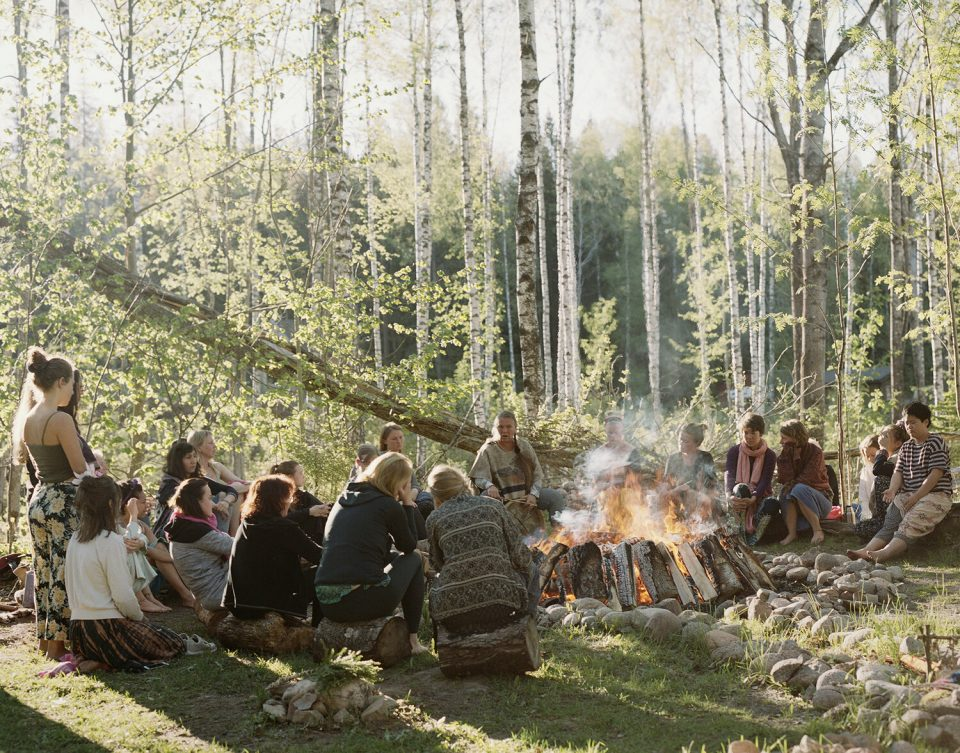 Grandmother Ana and the Sweat Lodge participants, Sacred Womb Women's Festival, Ängsbacka, 2019